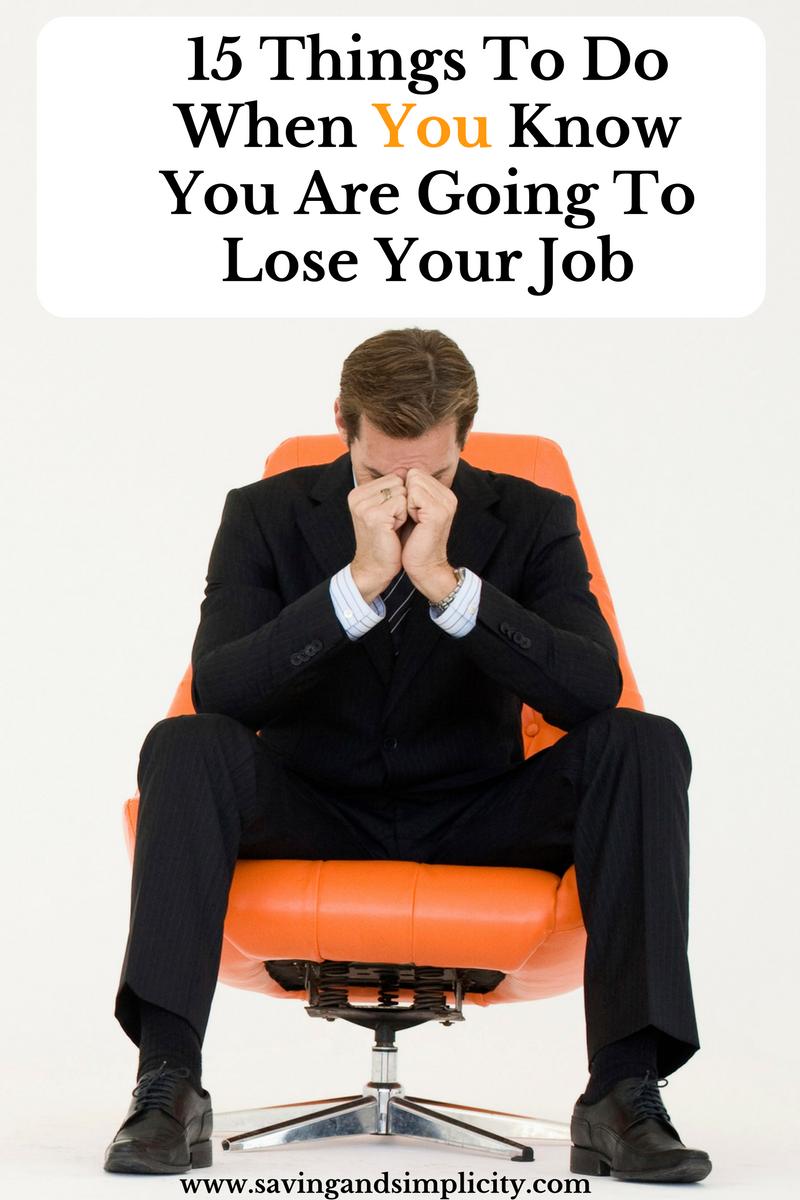 lose job